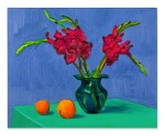 Gladioli with Two Oranges