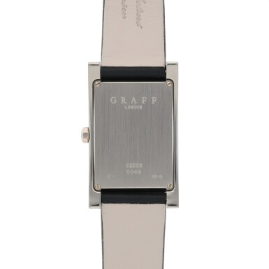 View 4. Thumbnail of Lot 424. REF GXXVIII WHITE GOLD WRISTWATCH WITH DATE CIRCA 2005.