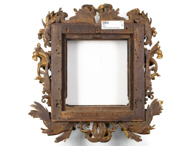 View 2. Thumbnail of Lot 123. A NORTH ITALIAN BAROQUE CARVED GILTWOOD PICTURE FRAME, IN THE MANNER OF THE FANTONI WORKSHOP EARLY 18TH CENTURY.