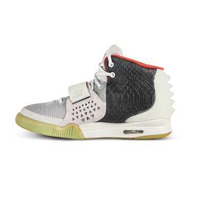 View 6. Thumbnail of Lot 38. Nike Air Yeezy 2 'Mismatch' Sample Signed by Kanye West | Size 12.