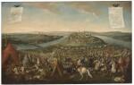 FOLLOWER OF JAN VAN HUCHTENBURG | Scenes of the Siege of Belgrade:Prince Eugene of Savoy directing troops; Aftermath of the battle