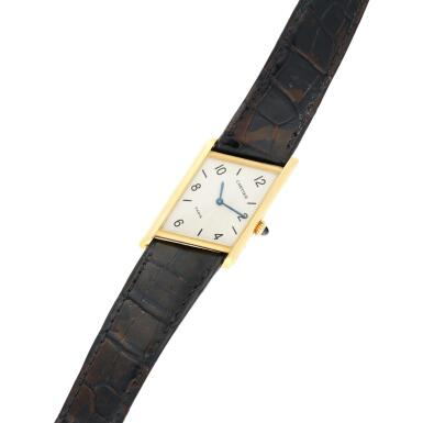 View 6. Thumbnail of Lot 221. Reference 2488 Tank Asymétrique  A limited edition yellow gold asymmetric wristwatch, Made in 1996 .