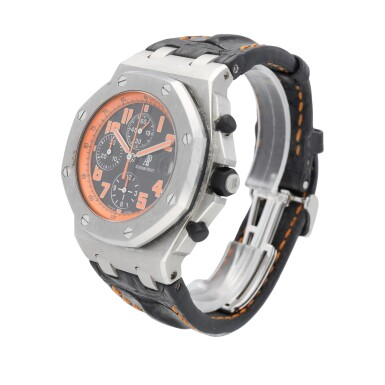 """View 3. Thumbnail of Lot 43. Royal Oak Offshore """"Volcano"""" Chronograph reference 26170ST.00.D101CR.01 A stainless steel automatic chronograph wristwatch with date, circa 2010."""