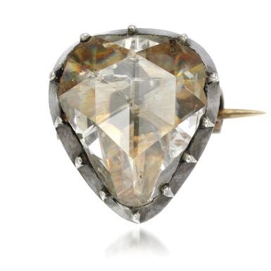 View 1. Thumbnail of Lot 22. Diamond brooch, mid 19th century.
