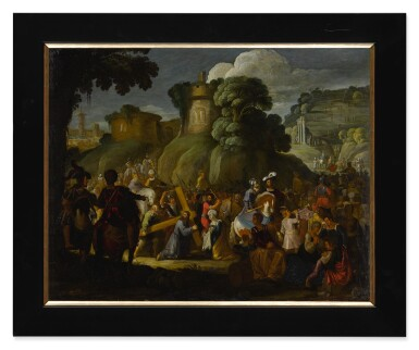 View 2. Thumbnail of Lot 593. Christ on the road to Calvary.