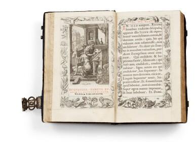 View 4. Thumbnail of Lot 40.  Horae beatissimae... Anvers, 1570.Reliure brodée de la Renaissance aux armes du duc d'Anjou..