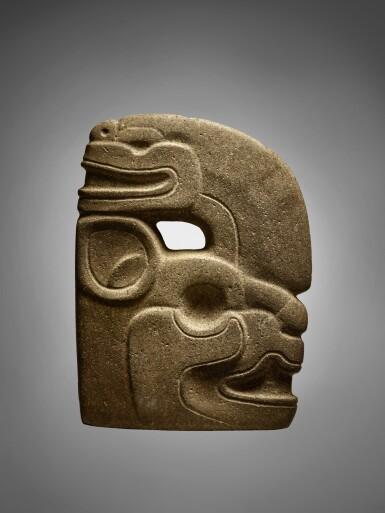 View 3. Thumbnail of Lot 97. Maya Stone Effigy Hacha Late Classic, circa AD 550 - 950.