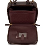 Chanel Iridescent Burgundy Large Filigree Vanity Case of Caviar Leather with Matte Gold Tone Hardware