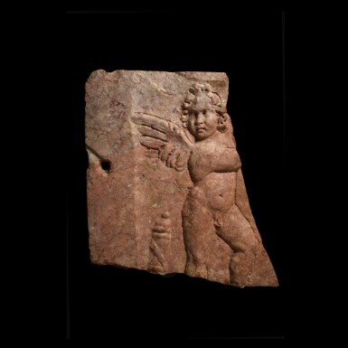 View 2. Thumbnail of Lot 81. A Roman Red Marble Double-sided Relief with Erotes, late 2nd/3rd Century A.D..