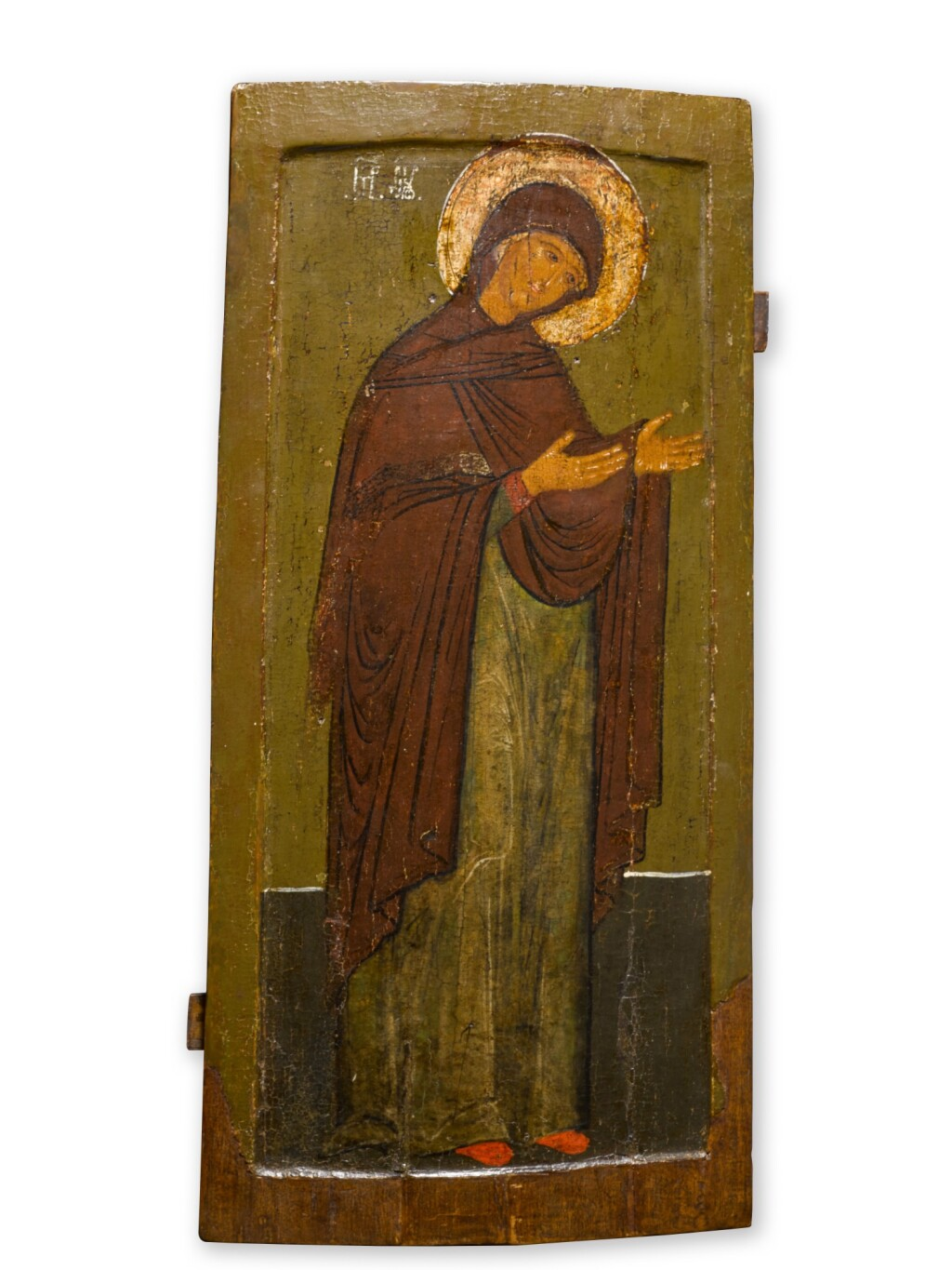 AN ICON OF THE MOTHER OF GOD FROM A DEESIS, RUSSIAN, 17TH CENTURY