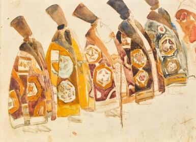 BORIS IZRAILEVICH ANISFELD | Costume Design for Five Boyars from The Snow Maiden
