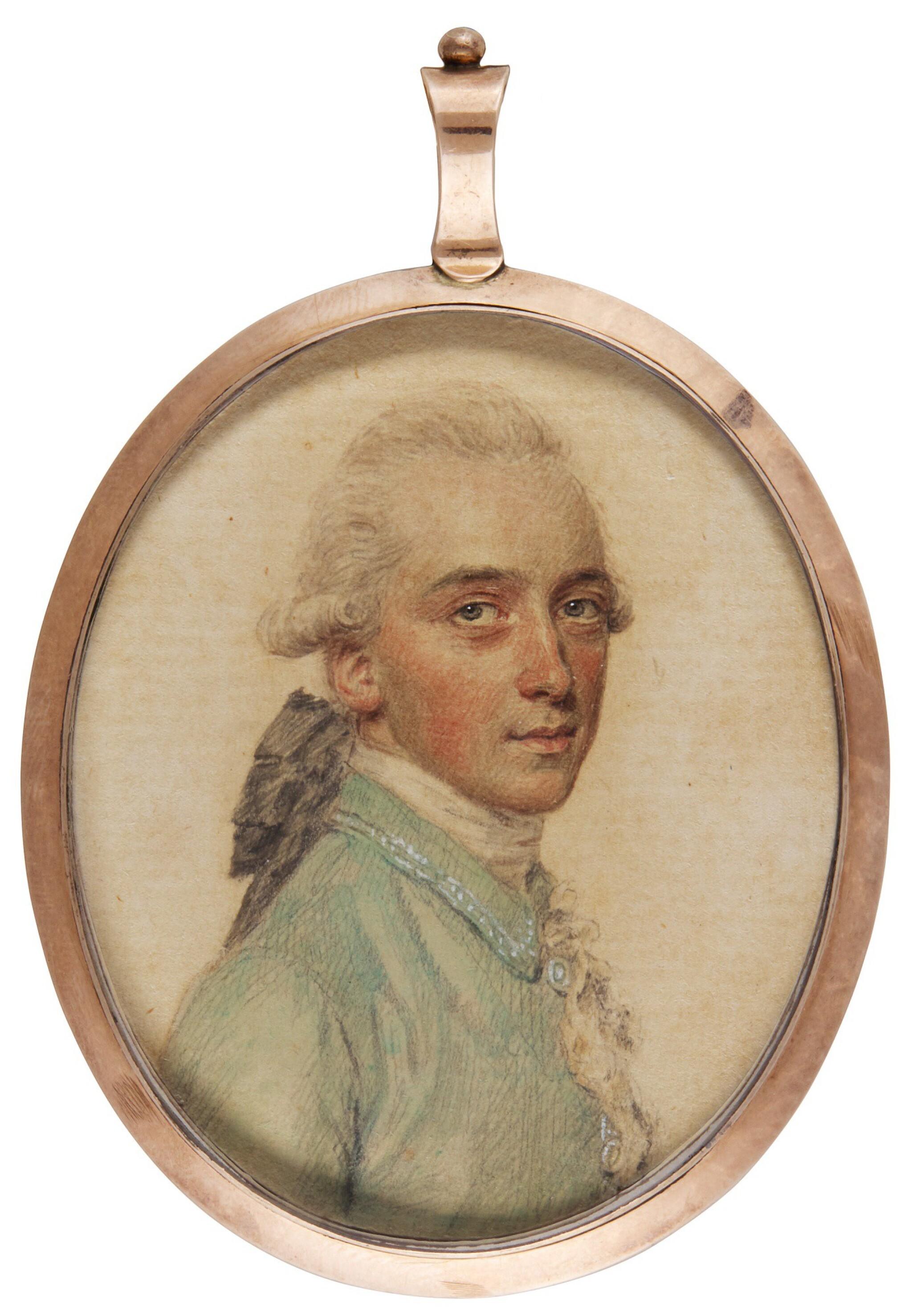 View full screen - View 1 of Lot 299. JOHN SMART   PORTRAIT OF DAVID SHAKESPEAR (1751-1823).