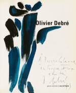 [DEBRÉ]. Olivier Debré. Paris, Jeu de Paume, 1995. Catalogue d'exposition avec envoi et gouache originale
