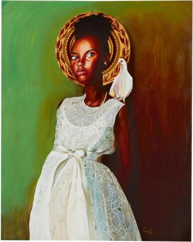 View 1. Thumbnail of Lot 203. OTIS KWAME KYE QUAICOE | GIRL IN WHITE DRESS .