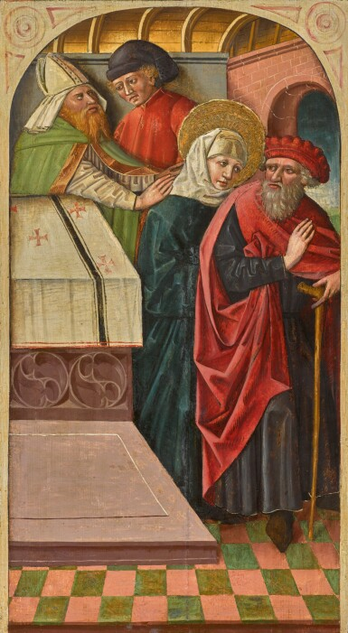 View 1. Thumbnail of Lot 106. AUSTRIAN SCHOOL, 15TH CENTURY | The expulsion of Joachim from the Temple.