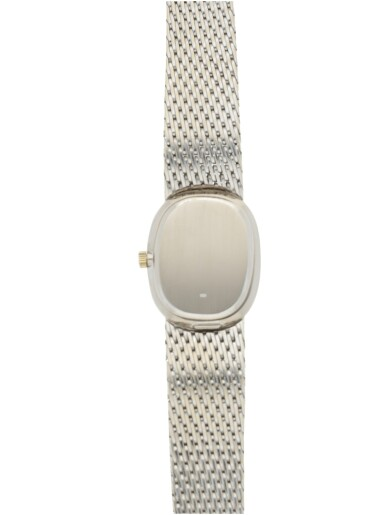 View 5. Thumbnail of Lot 54. PATEK PHILIPPE   REFERENCE 4226/2,  A WHITE GOLD BRACELET WATCH, MADE IN 1974.