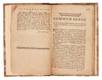 PAINE   Common sense, Norwich CT, 1776, modern half calf