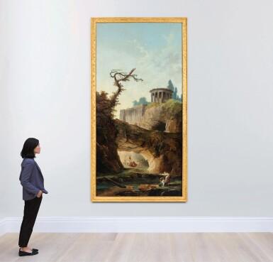 View 4. Thumbnail of Lot 35. A fantasy view of Tivoli.