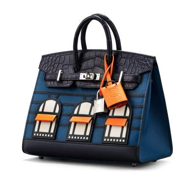View 2. Thumbnail of Lot 20. Limited Edition Birkin Faubourg Sellier 20 in Veau Madame, Matte Alligator, Sombrero, Epsom and Swift Leather with Palladium Hardware, 2019.