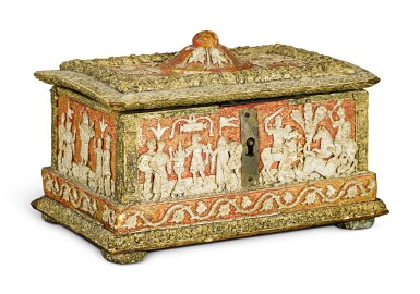 View 3. Thumbnail of Lot 723. Casket with classical subjects.
