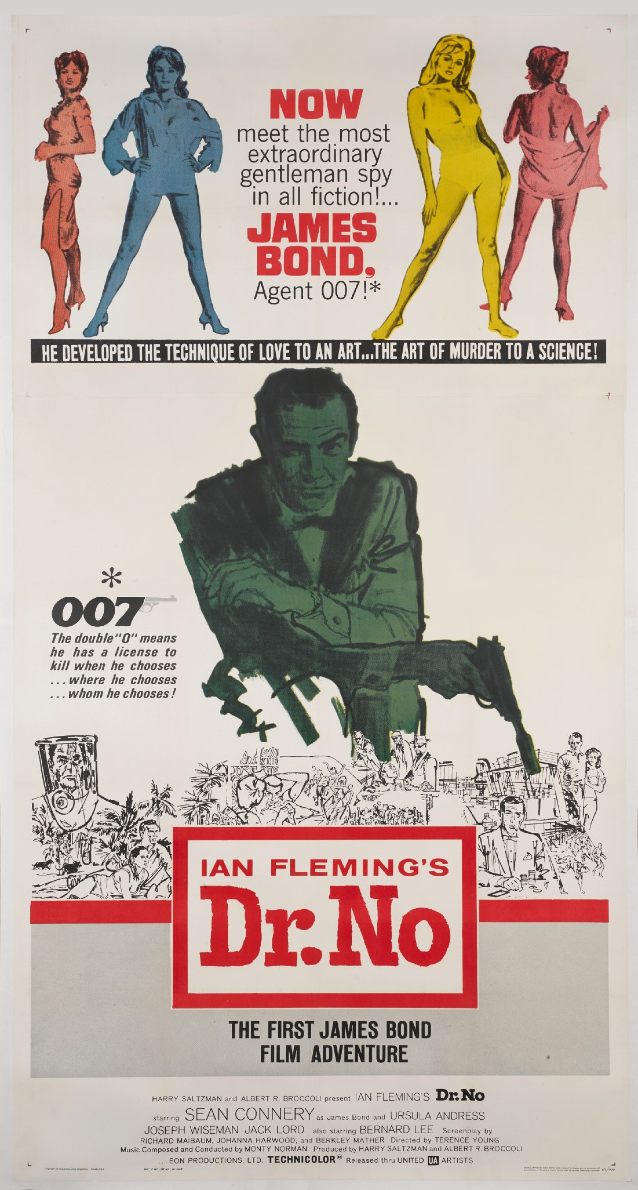 View 1 of Lot 11. DR. NO (1962) POSTER, US  .