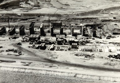 View 4. Thumbnail of Lot 232. Iraq Construction works & photos plus 2 maps, 1955.