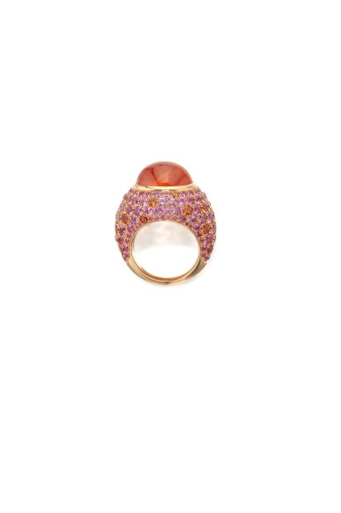 SPESSARTITE GARNET AND PINK SAPPHIRE RING, TIFFANY & CO.
