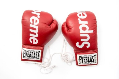View full screen - View 1 of Lot 3. SUPREME EVERLAST BOXING GLOVES RED.