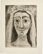 PABLO PICASSO | JACQUELINE EN MARIÉE, DE FACE. I (BA. 1089)