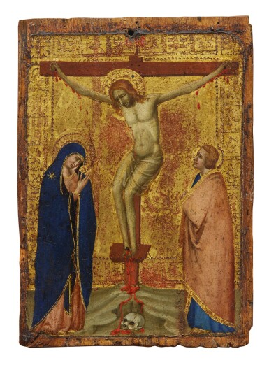 View 1. Thumbnail of Lot 106. Crucifixion with the Virgin and Saint John the Evangelist    .