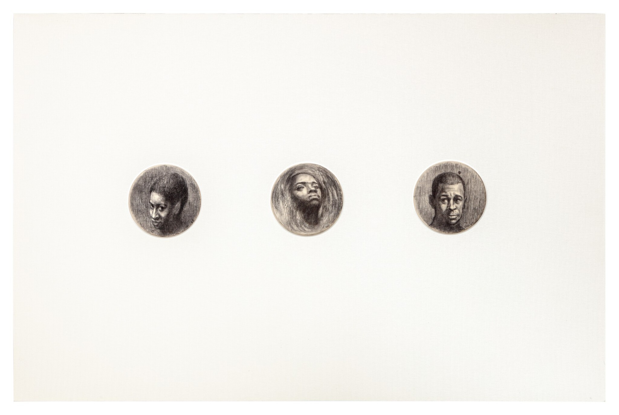 View full screen - View 1 of Lot 282. Three Round Heads (Triptych).