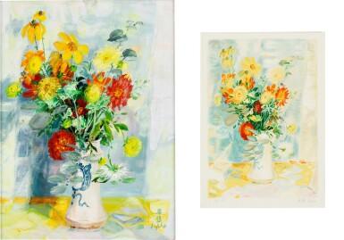 View 1. Thumbnail of Lot 4514. (i) Le Fleurs (ii) An associated lithograph of Le Fleurs (Hors Commerce 1) | (I)花卉  (II)相關石版畫.