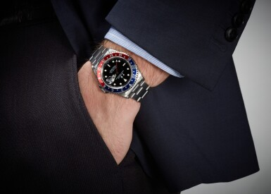 View 4. Thumbnail of Lot 5. ROLEX   GMT-MASTER, REFERENCE 16700, STAINLESS STEEL DUAL-TIME WRISTWATCH WITH DATE AND BRACELET, CIRCA 1990 .