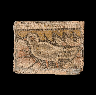 View 1. Thumbnail of Lot 110. A Byzantine Mosaic Fragment, circa 4th/5th Century A.D..