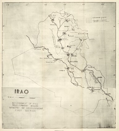 View 2. Thumbnail of Lot 232. Iraq Construction works & photos plus 2 maps, 1955.
