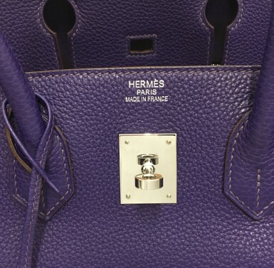 View 7. Thumbnail of Lot 717. HERMÈS | ULTRAVIOLET BIRKIN 35 IN TAURILLON CLEMENCE LEATHER WITH PALLADIUM HARDWARE, 2010.