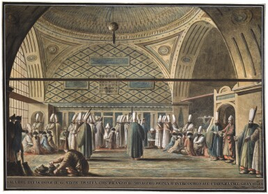 LUIGI MAYER, THE IMPERIAL COUNCIL IN THE TOPKAPI PALACE, LATE 18TH CENTURY