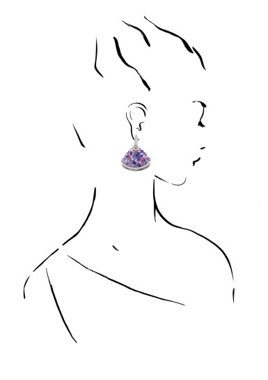 View 4. Thumbnail of Lot 44. MICHELE DELLA VALLE | GEM SET AND DIAMOND EARRINGS.