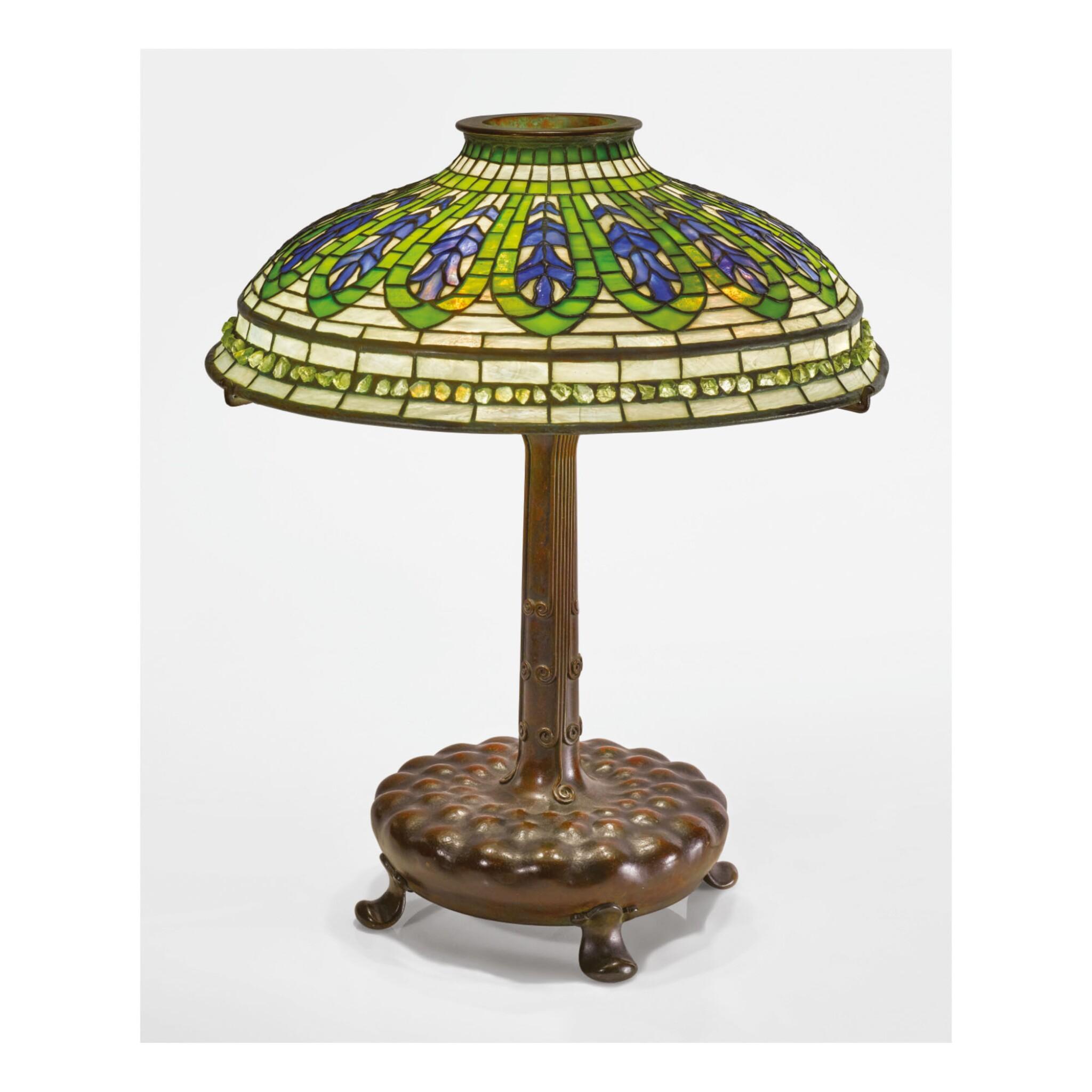"View 1 of Lot 4. TIFFANY STUDIOS | ""GENTIAN"" TABLE LAMP."