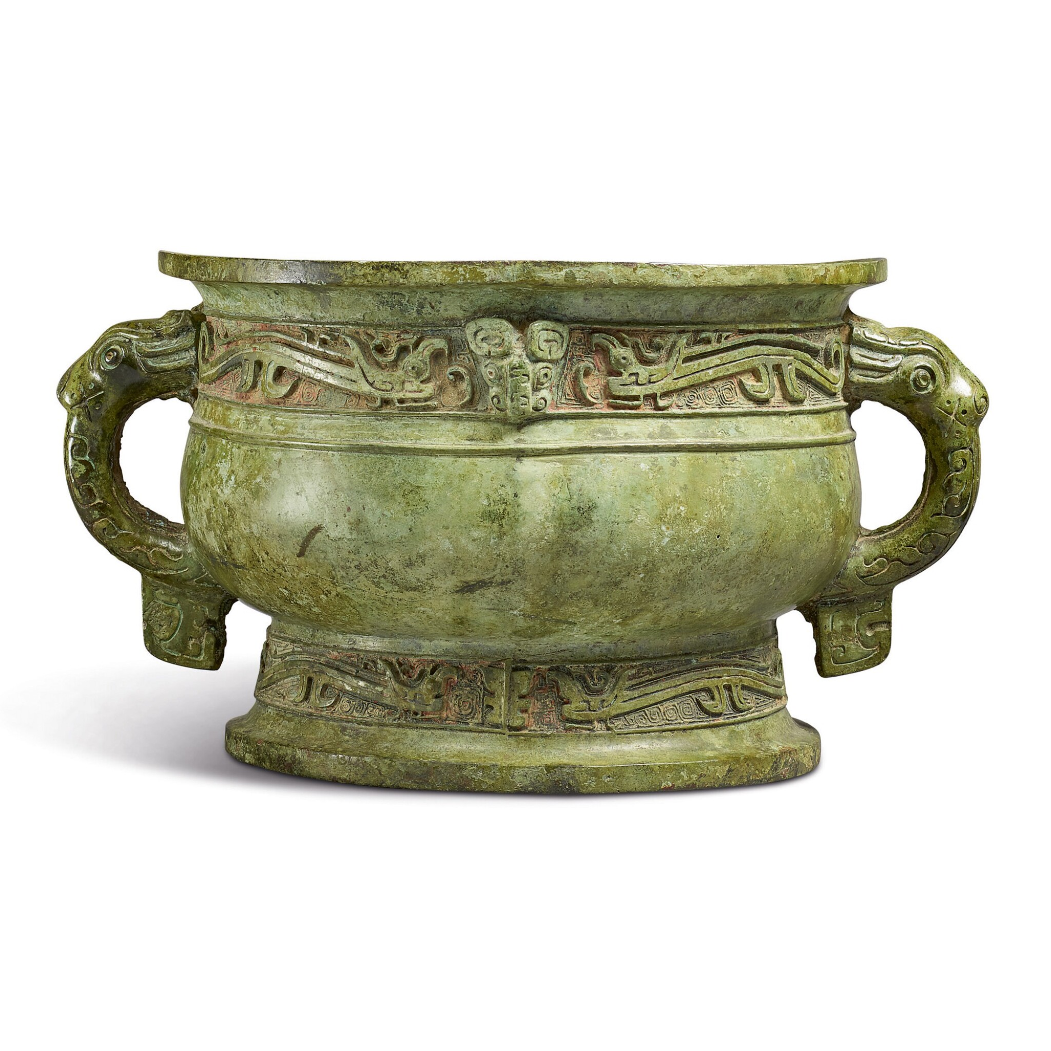View 1 of Lot 570.  AN IMPORTANT ARCHAIC BRONZE RITUAL FOOD VESSEL (GUI),  WESTERN ZHOU DYNASTY.
