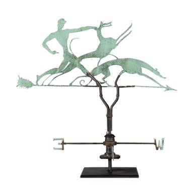 FINE COPPER AND IRON WEATHERVANE, WILLIAM HUNT DIEDERICH (1884-1953), NEW YORK, CIRCA 1920-29
