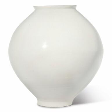 View 1. Thumbnail of Lot 129. A luminous white moon jar, Korea, Joseon dynasty, 18th century | 朝鮮王朝 十八世紀 白釉滿月花罐.