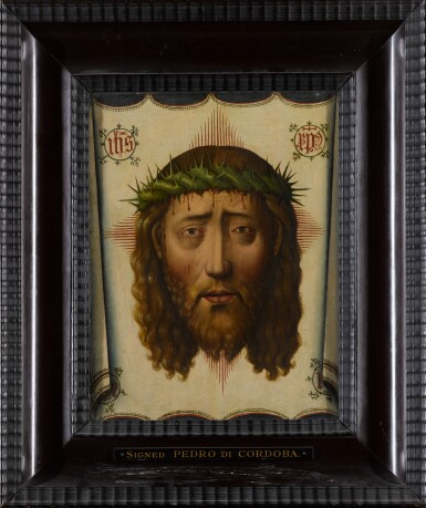 View 2. Thumbnail of Lot 4. MANNER OF PEDRO DE CÓRDOBA | THE VEIL OF VERONICA: THE HEAD OF CHRIST.