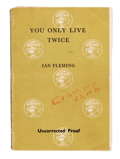 View 1. Thumbnail of Lot 113. Ian Fleming | You Only Live Twice, uncorrected proof for Playboy, with related correspondence, 1963-64.