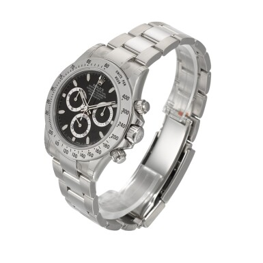 View 2. Thumbnail of Lot 3. Daytona, Ref. 116520 Stainless Steel Chronograph Wristwatch With Bracelet Circa 2010.