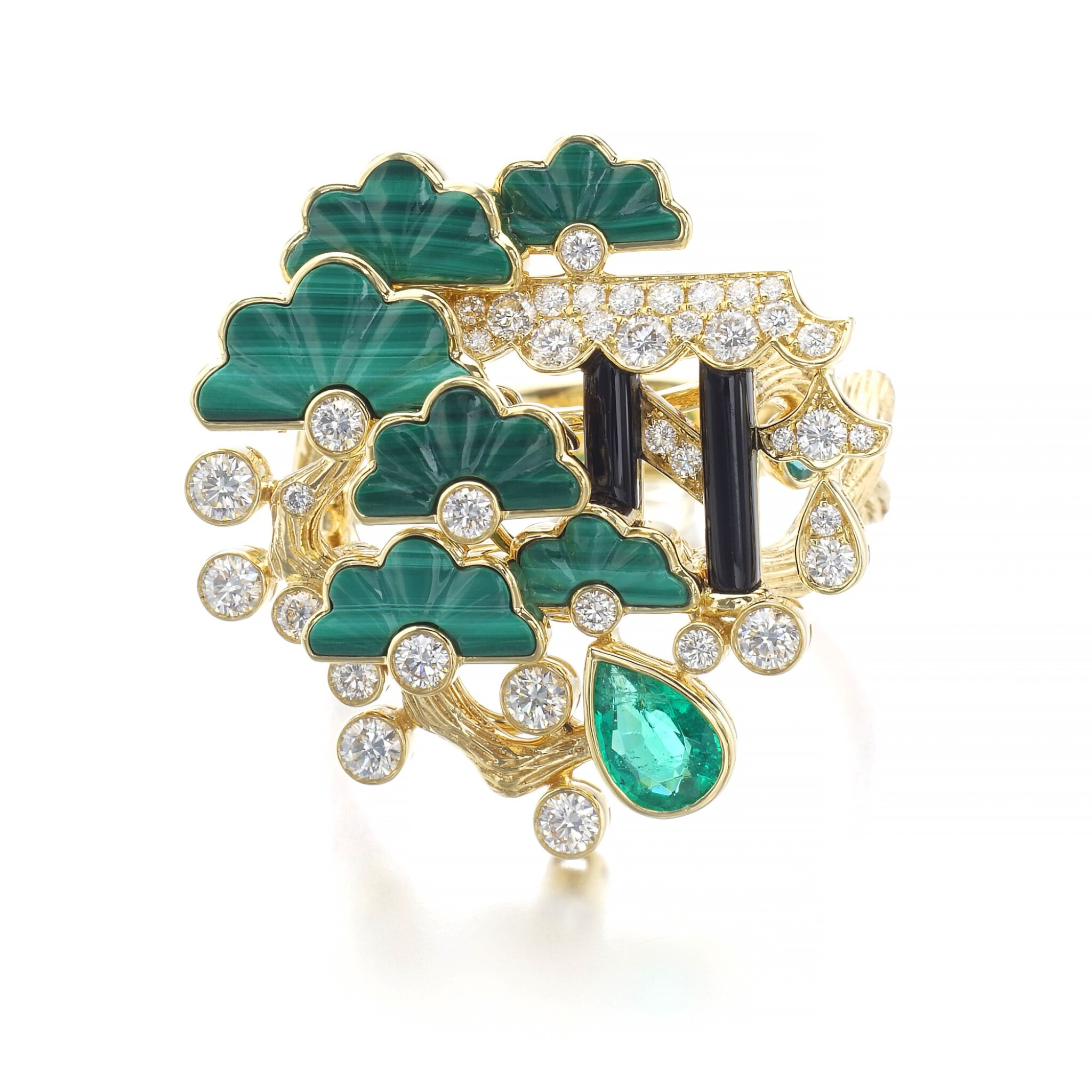 View full screen - View 1 of Lot 1155. Gem set and diamond ring.