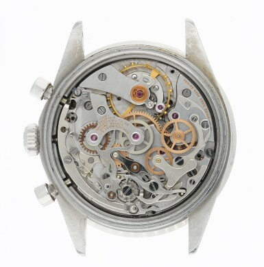 View 11. Thumbnail of Lot 14. Reference 6241 'Paul Newman' Daytona A stainless steel chronograph wristwatch, Circa 1968.