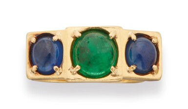 EMERALD AND DIAMOND RING, DINH VAN FOR CARTIER