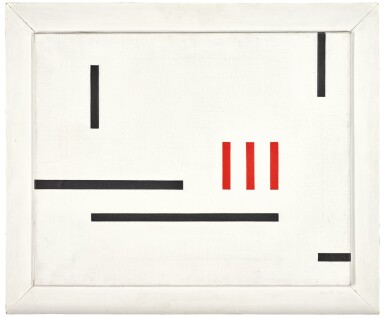 View 2. Thumbnail of Lot 65. MARLOW MOSS  |  WHITE, BLACK AND RED.