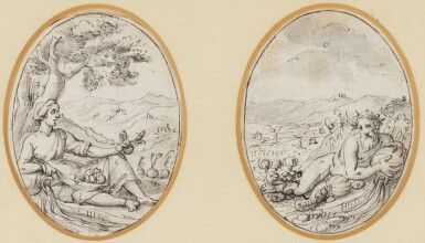 GENOESE SCHOOL EARLY 17TH CENTURY | Two mythological figures
